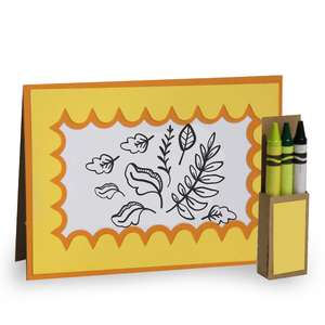 4x5 fall ferns coloring card