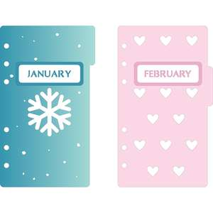 6-ring a6 binder january & february dividers