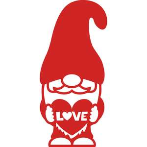 gnome with heart love