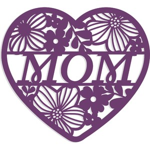 mom floral heart