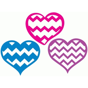 chevron heart set