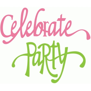 celebrate & party flourish words