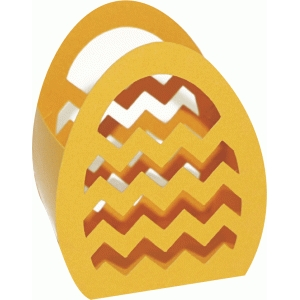 3d chevrons egg basket