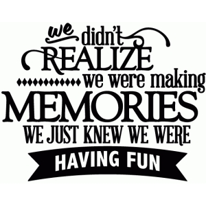 we didn't realize we were making memories - vinyl phrase