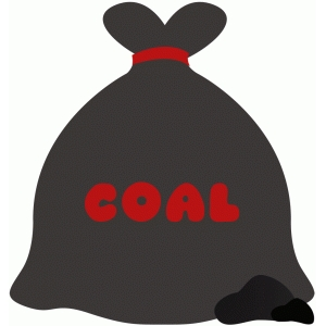 bag lump of coal christmas naughty