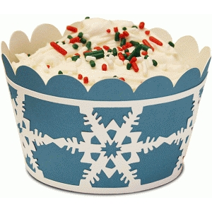 cupcake wrapper set: snowflakes