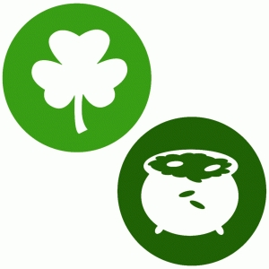 st patty's day disks