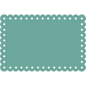 scallop border card
