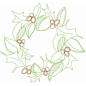 sketch wreath