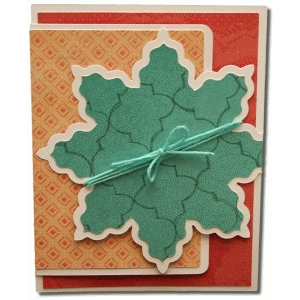 a2 flower rectangle fancy fold card
