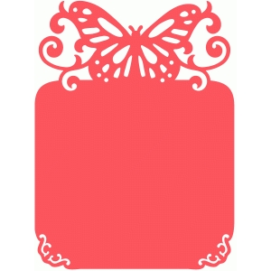 romantic butterfly note card