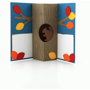 a2 tree trunk pop up card