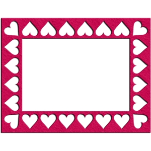 heart frame -  rectangle