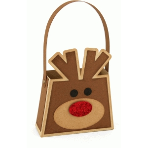 3d rudolph treat purse