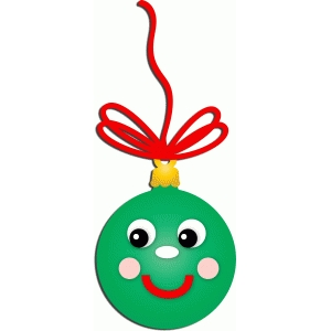 happy christmas ornament