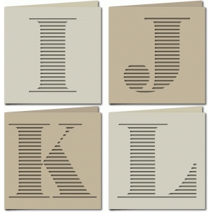 stripe monogram card ijkl