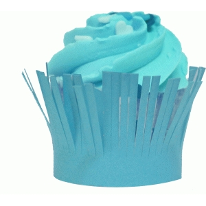 fringe cupcake wrapper