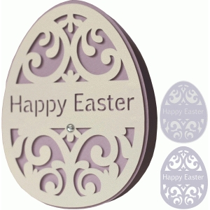 a2 easter egg shape card