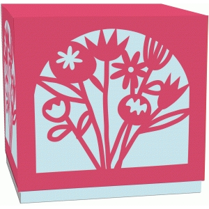 bunch of wild flowers lidded gift box
