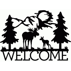welcome moose scene