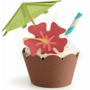 coconut drink cupcake wrapper