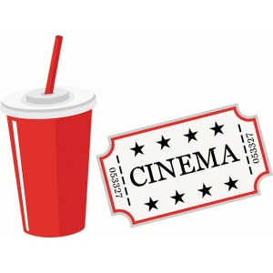 soda and movie ticket