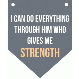 i can do everything... bible verse banner