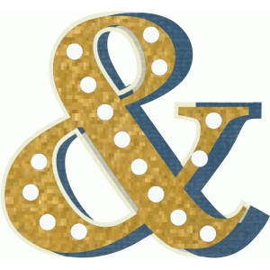 gold ampersand