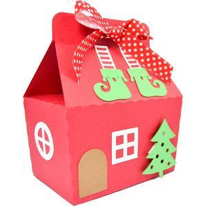 christmas elf boots house box