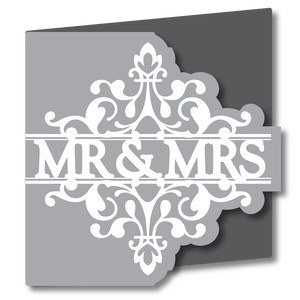 split design card - mr & mrs