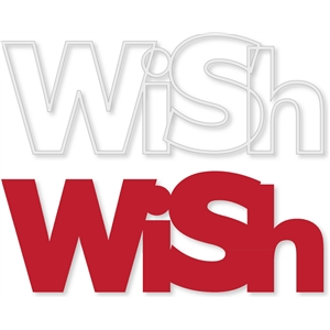 'wish' outline word