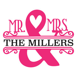 mr. and mrs. ampersand split frame