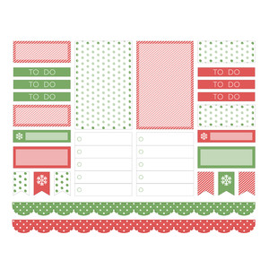 hello christmas planner stickers