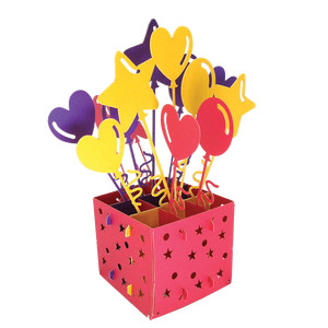 3d birthday box