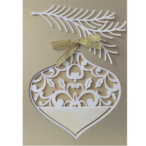 christmas ornament layer card