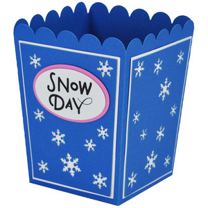 snow day popcorn box
