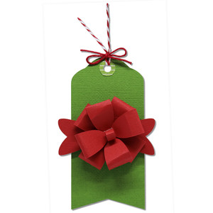 gift tag with package bow