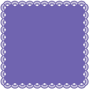 12 x 12 background shell lace edge