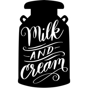 milk and cream