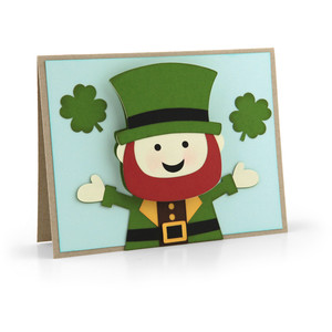 bobble head card leprechaun