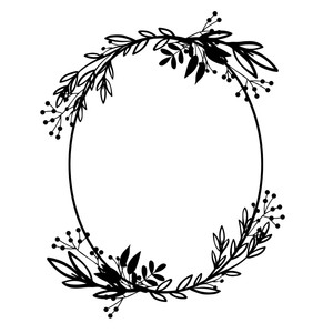 spring oval wreath