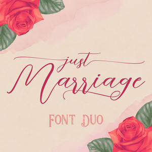 just marriage font duo