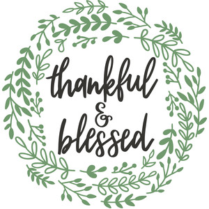thankful and blessed wreath