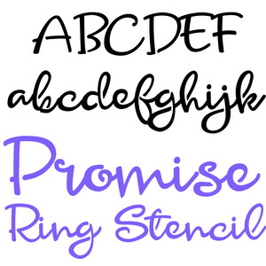 zp promise ring stencil