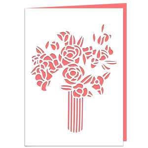 roman bouquet card
