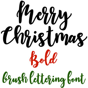 merry christmas bold brush lettering font