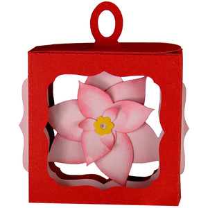 christmas poinsettia hanging ornament box