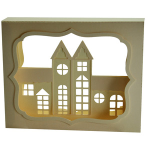 village shadow box decoration