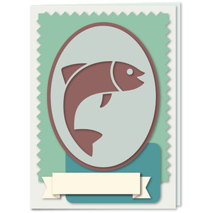 fish emblem panels 5x7 card kit