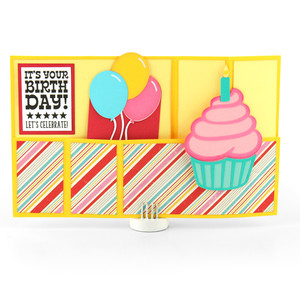 wiper card birthday cupcake